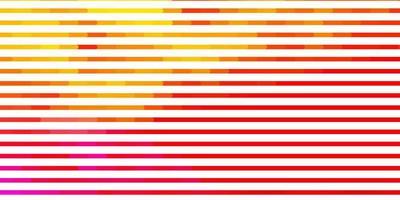 lichtroze, gele vectorachtergrond met lijnen.