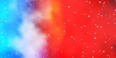 lichte veelkleurige vectorlay-out met heldere sterren.
