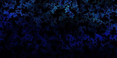 donkerblauw vector sjabloon met abstracte vormen.