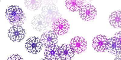 lichtpaars, roze vector natuurlijk kunstwerk met bloemen.