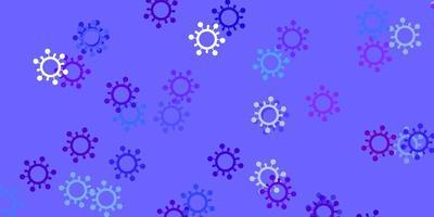 lichtblauwe, rode vectortextuur met ziektesymbolen.