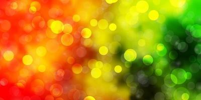 lichtgroen, geel vector sjabloon met cirkels