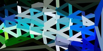 lichtblauw, groen vector geometrisch veelhoekig ontwerp.