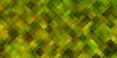 lichtgroene, gele vectortextuur in rechthoekige stijl. vector