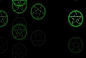 donkergroene vector achtergrond met occulte symbolen.