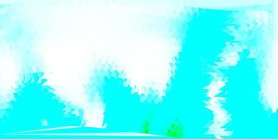 lichtblauw, groen vector abstract driehoeksjabloon.