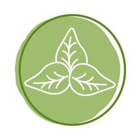 bladeren plant organische stijl vector