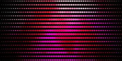 lichtroze vector patroon met cirkels.
