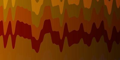donkere veelkleurige vectorachtergrond met gebogen lijnen.