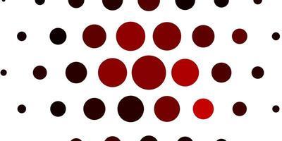 lichtrood vectorpatroon met bollen. vector
