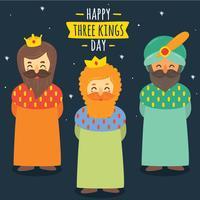 drie koningen dag vector