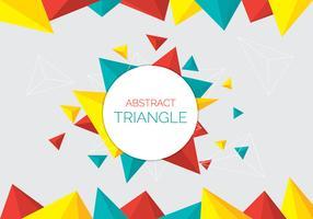 Abstracte driehoek achtergrond vector