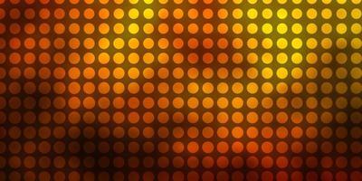 donkergroen, geel vector sjabloon met cirkels.