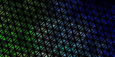 lichtblauwe, groene vectorachtergrond met lijnen, driehoeken.