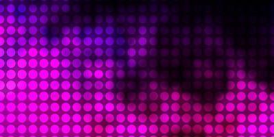 donkerpaars, roze vector sjabloon met cirkels.
