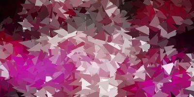 donkerroze vector geometrisch veelhoekig behang.