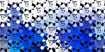 donkerblauwe vector achtergrond met covid-19 symbolen.
