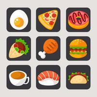 Voedsel applicatie iconen vector