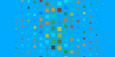 lichtblauwe, gele vectortextuur in rechthoekige stijl.