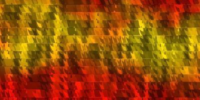 lichtoranje vectortextuur met lijnen, driehoeken.