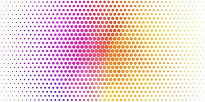 lichtblauw, geel vectormalplaatje met cirkels. vector