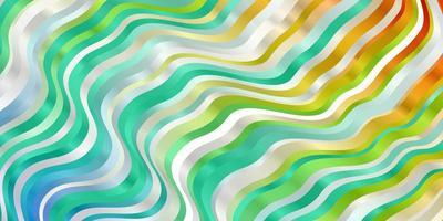 licht veelkleurige vector sjabloon met wrange lijnen.