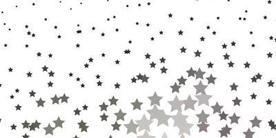lichtgrijze vectorachtergrond met kleine en grote sterren.