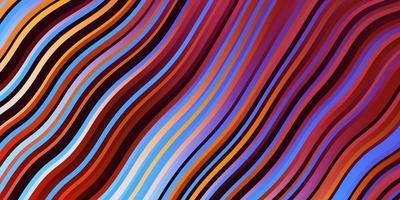 licht veelkleurig vectorpatroon met lijnen. vector