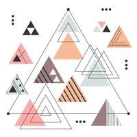 Abstracte driehoeken Vector