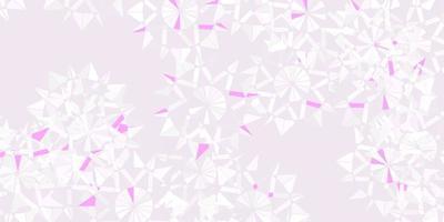 lichtpaarse vectortextuur met heldere sneeuwvlokken.