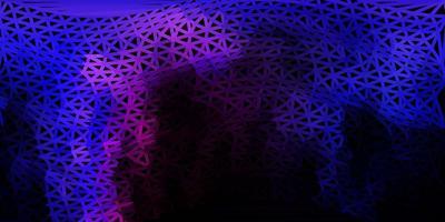 donkerroze, blauwe vector poly driehoeksjabloon.