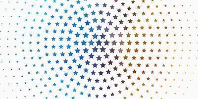 lichtblauw, geel vectormalplaatje met neonsterren.