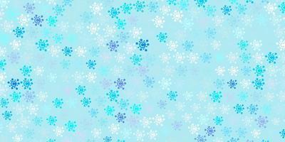 lichtblauwe vectorachtergrond met virussymbolen