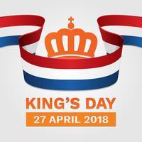Koningsdag Nederland Poster Illustratie vector