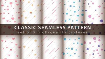 klassieke leuke en kleurrijke naadloze patroonreeks