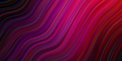 donkerpaars, roze vectortextuur met krommen. vector
