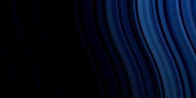 donkerblauw vector sjabloon met wrange lijnen.