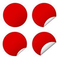 zelfklevende stickers vector ontwerp illustratie geïsoleerd op een witte achtergrond