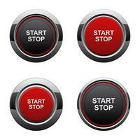 start motor knop vector ontwerp illustratie geïsoleerd op een witte achtergrond