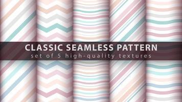 pastel naadloze patroon achtergrond instellen met lijnen en golven
