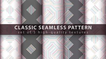 geomtrische naadloze patroonachtergrond die met lijnen wordt geplaatst