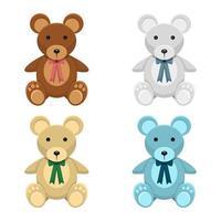 teddybeer vector ontwerp illustratie geïsoleerd op een witte achtergrond