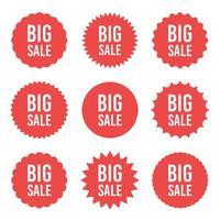 grote verkoop sticker vector ontwerp illustratie geïsoleerd op een witte achtergrond