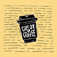 Hand getrokken koffie silhouet Vector