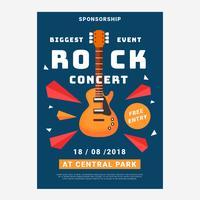 Concert Rock Poster sjabloon