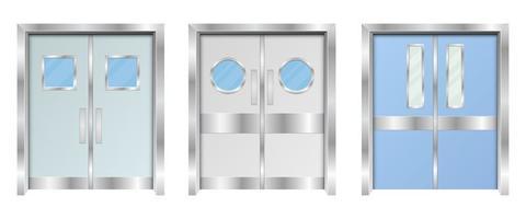 ziekenhuis dubbele deuren vector ontwerp illustratie geïsoleerd op een witte achtergrond