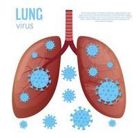 longziekte vector ontwerp illustratie geïsoleerd op een witte achtergrond