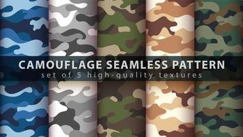 camouflage militaire naadloze patroon achtergrond instellen vector