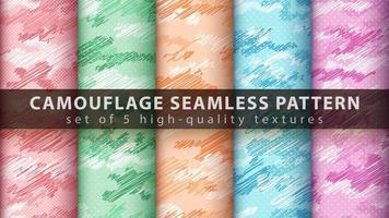 camouflage militaire naadloze patroon achtergrond instellen