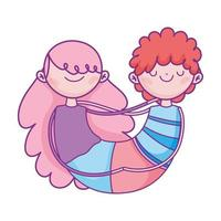 gelukkige Valentijnsdag, schattig paar liefdesviering